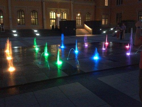 wrocław fontanna przy dworcu