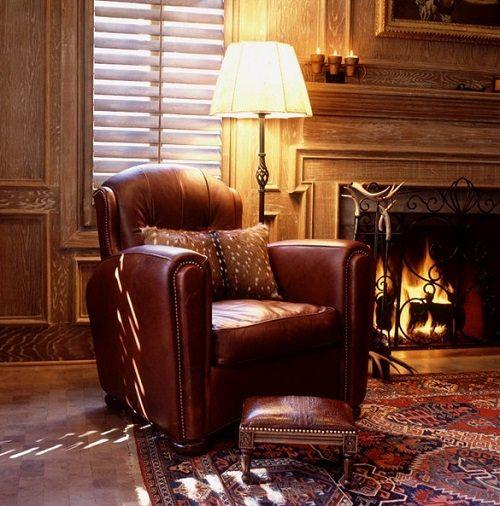 kominek i fotel