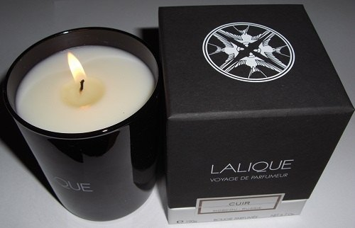 Lalique - Cuir, Moscow Russie świeca candle
