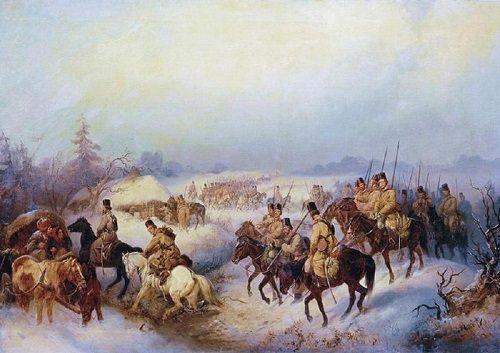 maszerujący kozacy