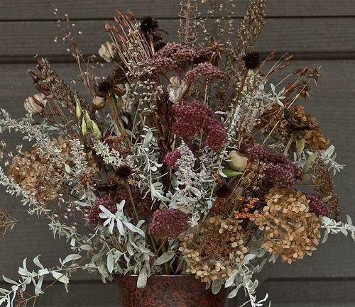 suszone zioła w wazonie