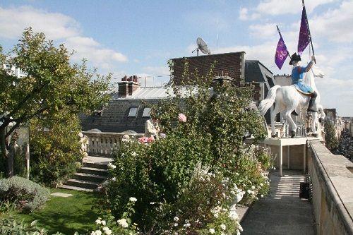 Hermes Paryż ogródek na dachu