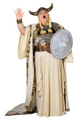 śpiewaczka operowa w wikingowskim hełmie