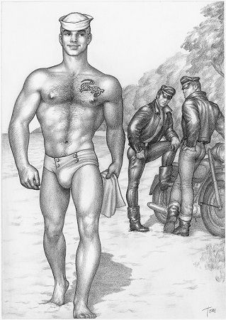 Tom of Finland szkic