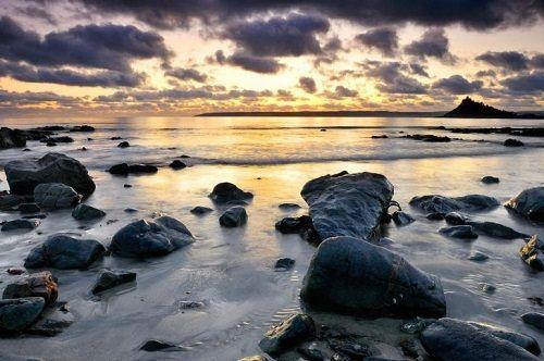 wet stones beach