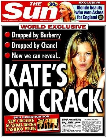 The Sun Kate Moss cover