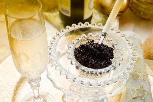 kawior i szampan