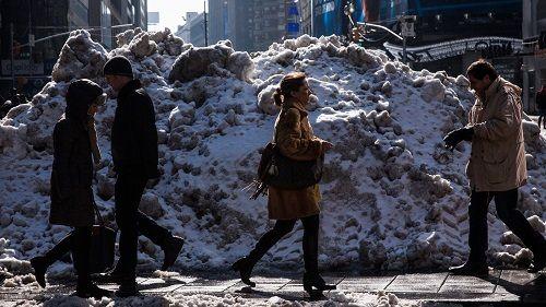 zalegający śnieg