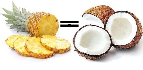 ananas i kokos