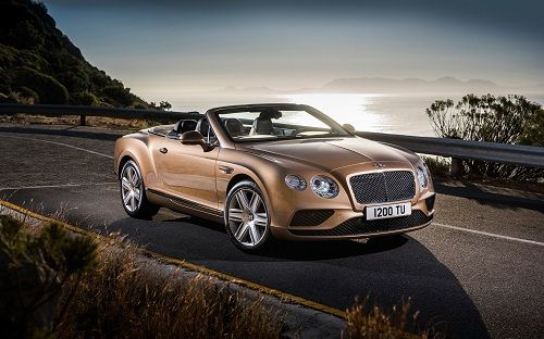 golden bentley continental gt